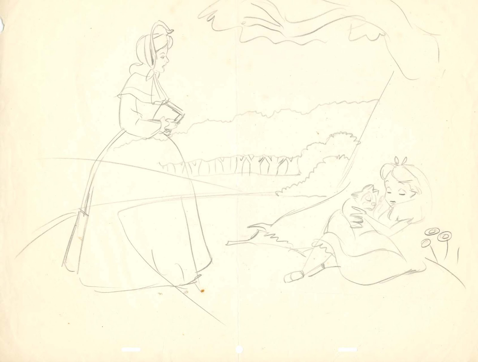 Line Drawing Wiki : Image field drawing alice and sister layout