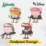 Amphibia development drawings - Hop Pop