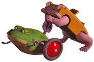 Frog and Wallking Car