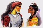 John Smith and Pocahontas Concept Art