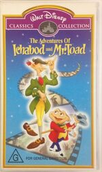 The Adventures of Ichabod and Mr Toad 2000 AUS VHS