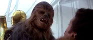 Chewbacca Chokes Lando