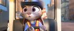 Judy mengendarai mobil