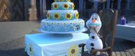 Olaf being a cake piggy! AWW!