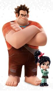 Wreck-It Ralph and Vanellopw with WiR2 render
