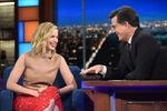 Emily Blunt visits Stephen Colbert