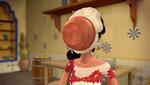 Bowl of dough flies into Elena's face