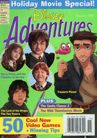 Disney Adventures Magazine cover November 2002 Holiday movies