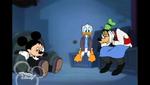 Mickey Donald and Goofy looking sad