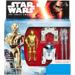 C-3Po and R2-D2 TFA figures