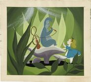 Disney's Alice in Wonderland - Caterpillar and Alice Concept Art by Mary Blair - 2