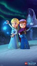 LEGO Frozen Northern Lights - Elsa and Anna