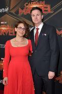 Ryan Fleck & Anna Boden Captain Marvel premiere