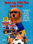 Air Bud World Pup video DVD print ad NickMag Dec 2000