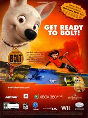 Bolt video game print ad NickMag Dec Jan 2009