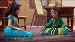 Isa & Ari playing Dreidel