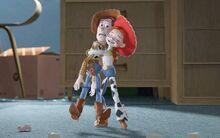 TS2 Jessie hugs Woody