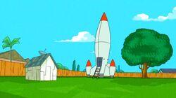 The boys' rocket