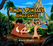 Timon & Pumbaa's Jungle Games Title Screen
