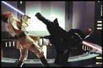 Darth maul kicking obi wan