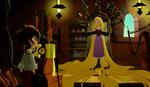 Varian steckt Rapunzel in seine Maschine