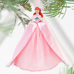 2010 Disney Store Ariel Winter Christmas Ornament Pink Dress