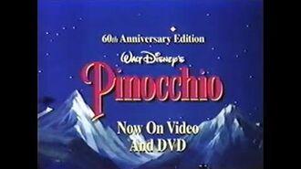 Пиноккио (1940) – видео-трейлер 1999 года
