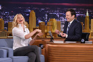 Cameron Diaz visits Jimmy Fallon