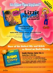 Lizzie McGuire soundtrack print ad Nick mag Oct 2002