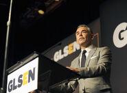 Rick Gomez speaks at GLSEN Awards