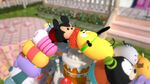 Tsum mickey and tsum pluto fighting over the strawberry