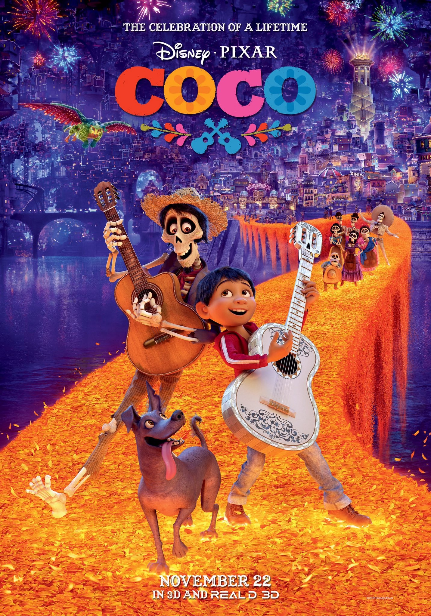 Imagen - Coco 3D poster.jpg   Disney Wiki   FANDOM powered ...