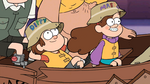 Dipper and Mabel riding boat