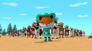 Frida Fox with Cows