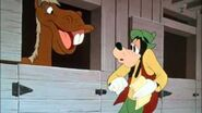 Goofy getting idea for winner from horse