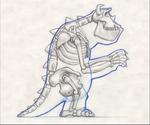Sulley's Skeleton Concept art