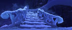 Frozen ice stairs