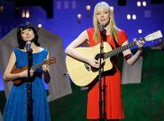 Kate Micucci and Riki Lindhome performing Independent Spirit Awards
