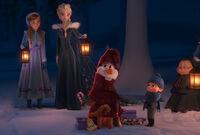 Anna und Elsa haben Olaf wiedergefunden