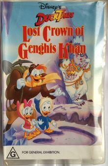DuckTales The Lost Crown of Genghis Khan 1989 AUS VHS