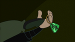 Kim kicks amulet out of Fists hand