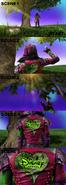 Storyboard of an Disney Channel bumper (Taking an Apple)