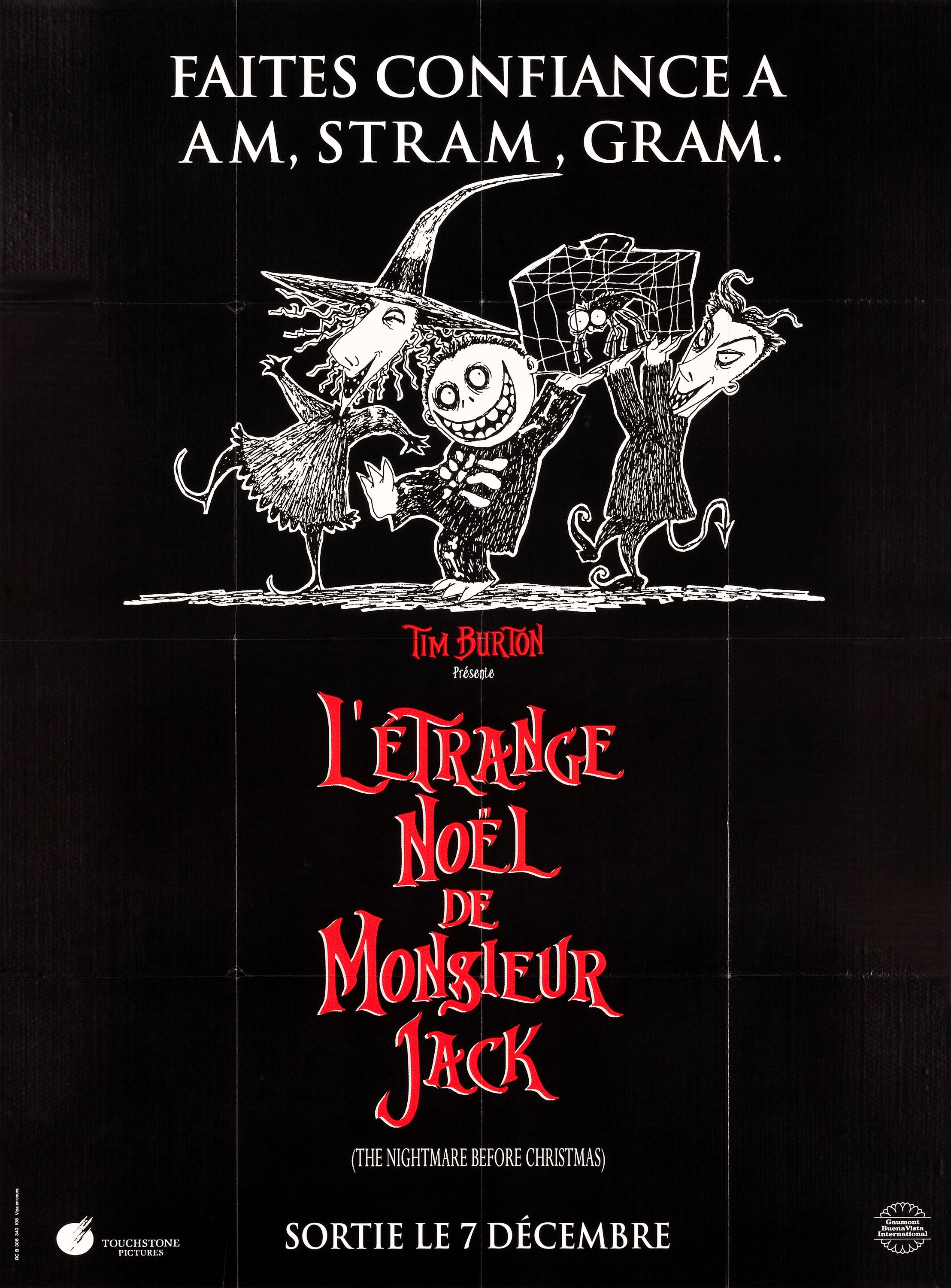 Image - The Nightmare Before Christmas French Poster 02.jpg | Disney ...