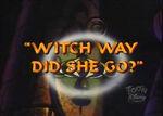 WitchWayDidSheGo
