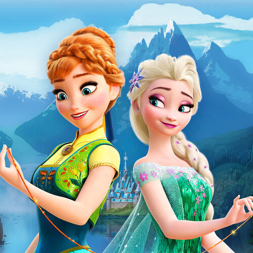Anna, Elsa and the string