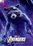 Avengers Endgame Russian poster - Rocket Raccoon