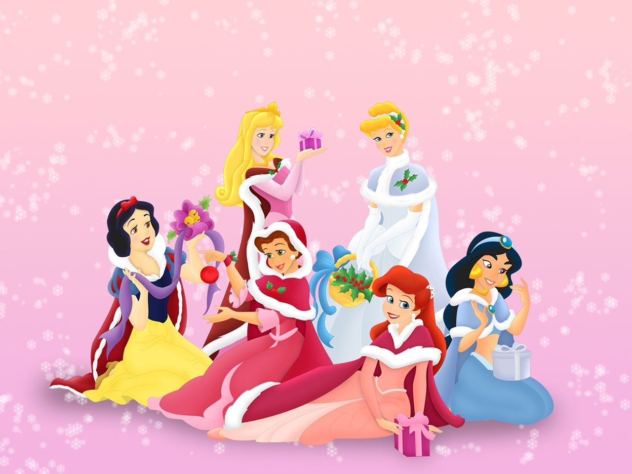disney princess christmas wallpaperdisney princesses christmas wallpaper px disney muz xu 1293148406jpg