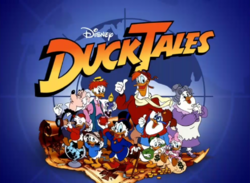 DuckTales original cast with logo