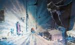 Young elsa frozen room artwork