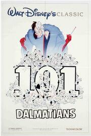 101 Dalmatians Re-Release Poster